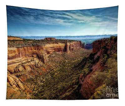 Monument Canyon And Saddlehorn Tapestry