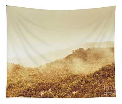 Moody Mountain Morning Tapestry