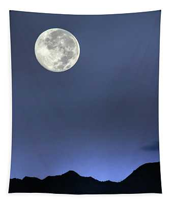 Moon Over Ko'olau Tapestry