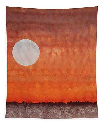 Moon Over Mojave Tapestry