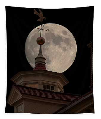Moon Over Mount Vernon Tapestry