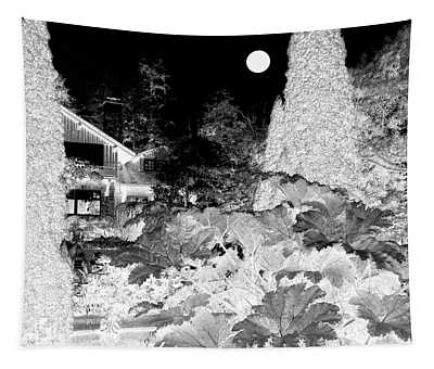 Moon Over Stanley Park Tapestry