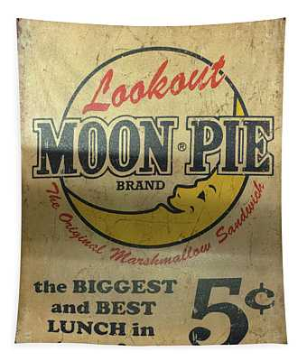 Moon Pie Antique Sign Tapestry