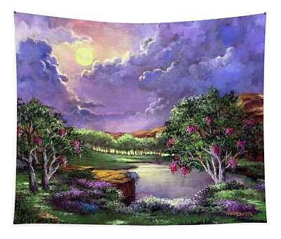 Moonlight In The Woods Tapestry