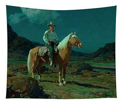 Moonlight On The Ranch Tapestry