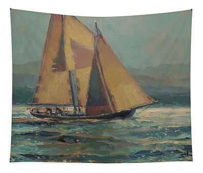 Moonlight Sail Tapestry