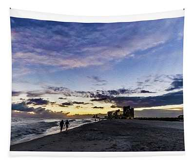 Moonlit Beach Sunset Seascape 0272b1 Tapestry