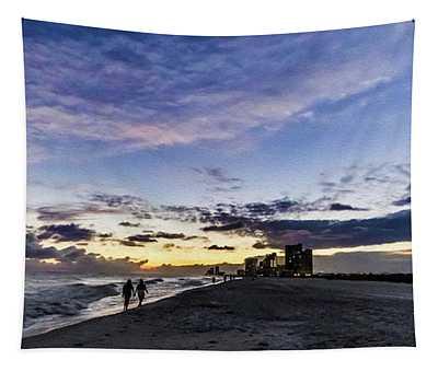 Moonlit Beach Sunset Seascape 0272c Tapestry