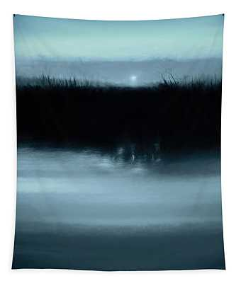 Moonrise On The Water Tapestry