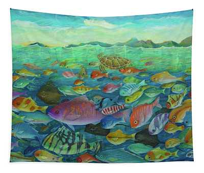 More Fish Tapestry