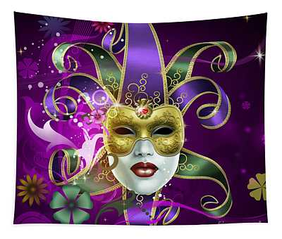 Golden Glow Mixed Media Wall Tapestries