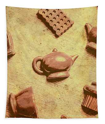 Morning Breakfast Chocolate Tea Set  Tapestry