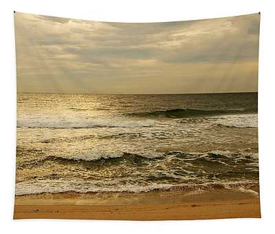 Morning On The Beach - Jersey Shore Tapestry