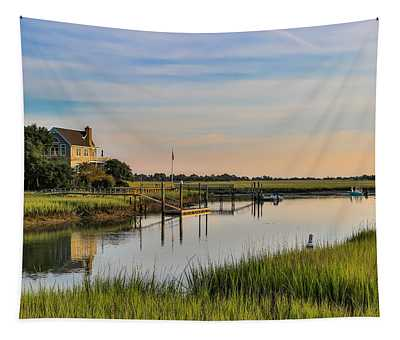 Morning On The Creek - Wild Dunes Tapestry