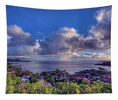 Morning Rain In Kaneohe Bay Tapestry