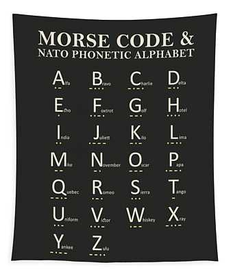 Morse Code And Phonetic Alphabet Tapestry