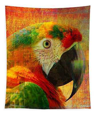 Mosaic Macaw 2016 Tapestry