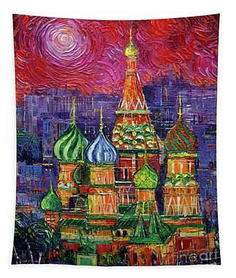 Moscow Saint Basil's Cathedral Tapestry