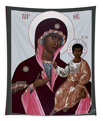 Mother Of God - Protectress Of The Oppressed - Rlpoo Tapestry