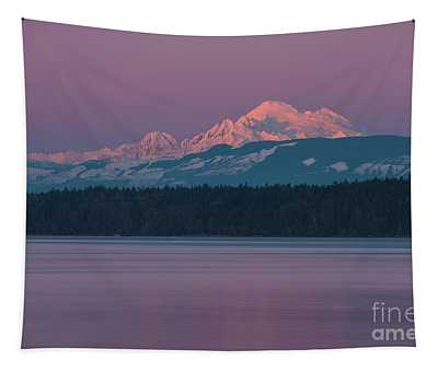 Mount Baker Alpenglow Tranquility Tapestry