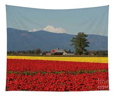 Mount Baker Skagit Valley Tulip Festival Barn Tapestry