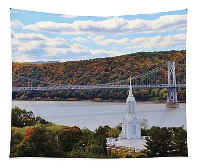 Mount Carmel And The Mid Hudson Bridge Tapestry