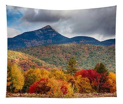 Peak Fall Colors On Mount Chocorua Tapestry