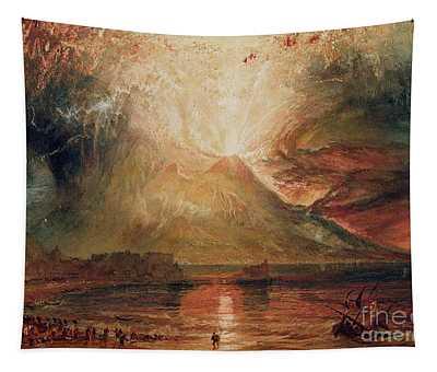 Mount Vesuvius In Eruption Tapestry