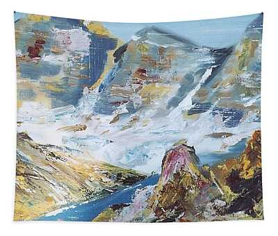 Mountain Done With Knife Tapestry