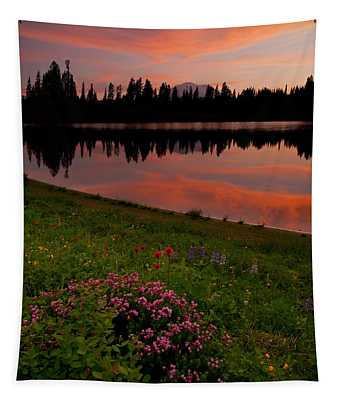 Mountain Heather Reflections Tapestry