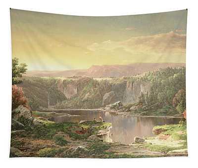 Mountain Lake Near Piedmont Tapestry