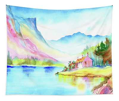 Mountain Lake Tapestry