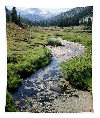 Mountain Meadow And Stream Tapestry