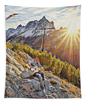 Mountain Of The Lord Tapestry