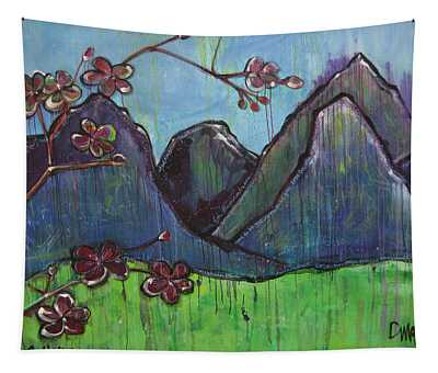 Copper Mountain Pose Tapestry