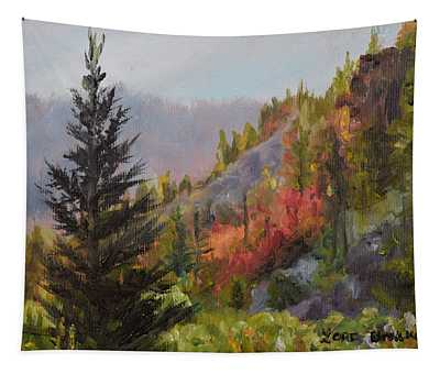 Mountain Slope Fall Tapestry