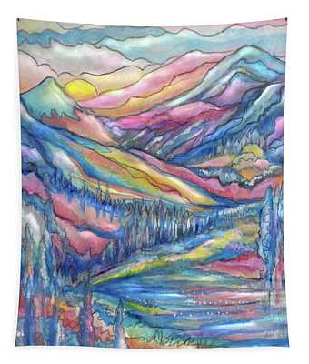 Mountain River Closeup Tapestry
