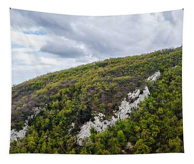 Mountains And Skies Tapestry by Andrea Mazzocchetti