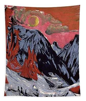 Mountains In Winter Tapestry