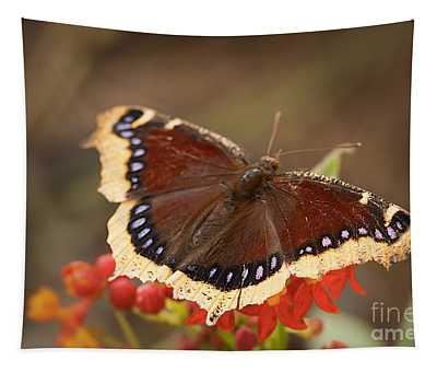 Mourning Cloak Butterfly Tapestry