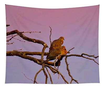 Mourning Doves Tapestry