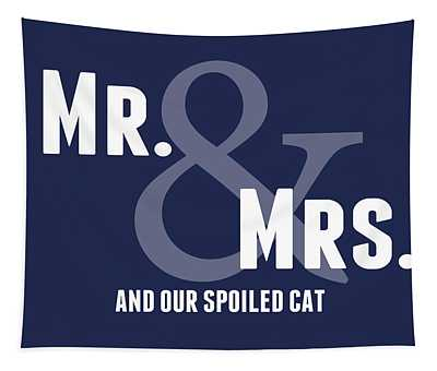 Mr And Mrs And Cat Tapestry
