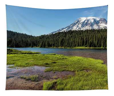 Mt Rainier From Reflection Lake, No. 2 Tapestry