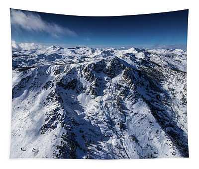 Mt Tallac Winter Aerial - Brad Scott Tapestry
