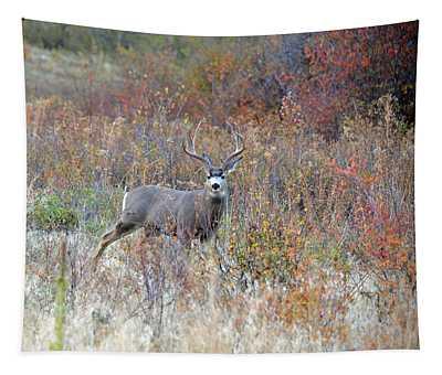 Mule Deer Buck Tapestry