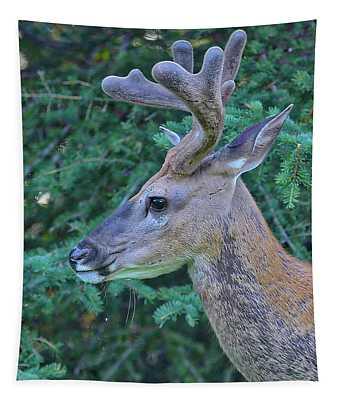 Mule Deer Profile Tapestry