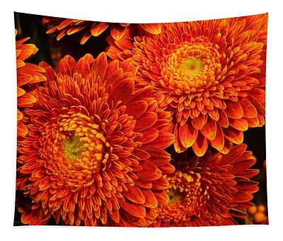 Mums In Flames Tapestry