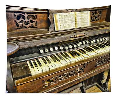 Music - Wooden Pump Organ  Tapestry