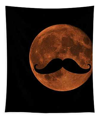 Mustache Moon Tapestry