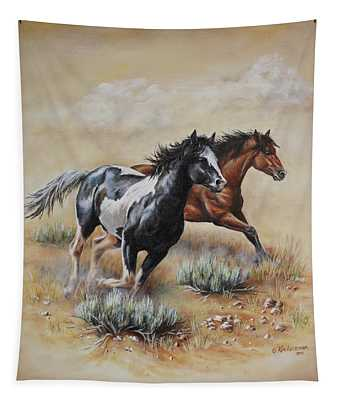 Mustang Glory Tapestry